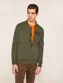 ARMANI EXCHANGE CAMO-BACK PIECED BOMBER JACKET Sweatshirt Man f