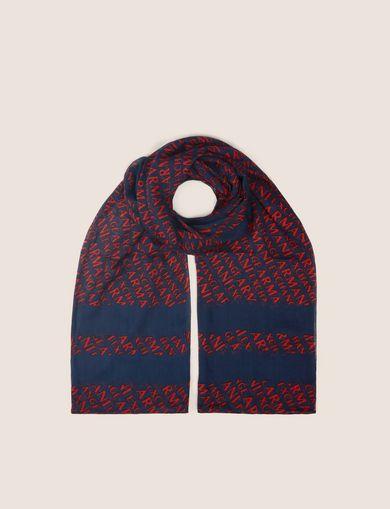 ロゴプリント スカーフ