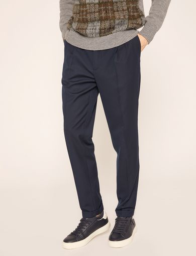 PLEAT-FRONT TROUSER PANT
