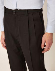 ARMANI EXCHANGE PLEAT-FRONT TROUSER PANT Smart Pant Man b