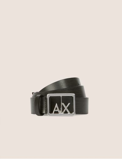 BOXED LOGO TEXTURED BELT