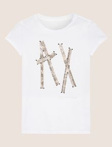 ARMANI EXCHANGE LOGO-T-SHIRT MIT TAPE UND NIETEN Logo-T-Shirt [*** pickupInStoreShipping_info ***] r