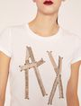 ARMANI EXCHANGE LOGO-T-SHIRT MIT TAPE UND NIETEN Logo-T-Shirt [*** pickupInStoreShipping_info ***] b