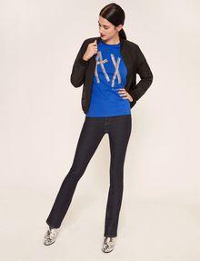 ARMANI EXCHANGE STUD TAPE LOGO TEE Logo T-shirt Woman d