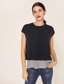 ARMANI EXCHANGE SPLIT-BACK LAYER EFFECT SWEATER Pullover Woman f