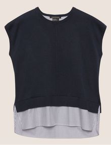 ARMANI EXCHANGE SPLIT-BACK LAYER EFFECT SWEATER Pullover [*** pickupInStoreShipping_info ***] r