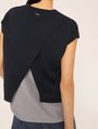 ARMANI EXCHANGE SPLIT-BACK LAYER EFFECT SWEATER Pullover Woman b