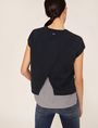 ARMANI EXCHANGE SPLIT-BACK LAYER EFFECT SWEATER Pullover Woman e