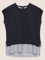 ARMANI EXCHANGE SPLIT-BACK LAYER EFFECT SWEATER Pullover Woman r