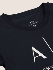 ARMANI EXCHANGE GIRLS CLASSIC LOGO CREWNECK TEE Logo T-shirt Woman d