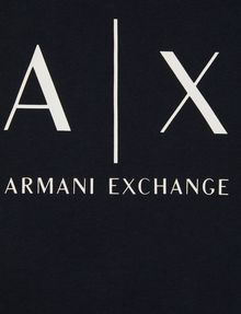 ARMANI EXCHANGE GIRLS CLASSIC LOGO CREWNECK TEE Logo T-shirt Woman e