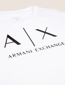 ARMANI EXCHANGE GIRLS CLASSIC LOGO CREWNECK TEE Logo T-shirt Woman d