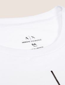 ARMANI EXCHANGE GIRLS CLASSIC LOGO CREWNECK TEE Logo T-shirt Woman e