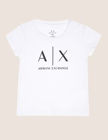 ARMANI EXCHANGE GIRLS CLASSIC LOGO CREWNECK TEE Logo T-shirt Woman f