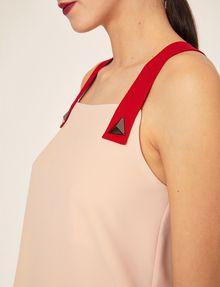 ARMANI EXCHANGE PYRAMID STUD PINAFORE TOP S/S Knit Top Woman b