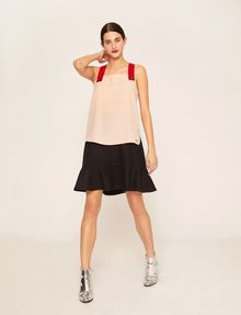 ARMANI EXCHANGE PYRAMID STUD PINAFORE TOP S/S Knit Top Woman d