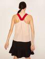 ARMANI EXCHANGE PYRAMID STUD PINAFORE TOP S/S Knit Top Woman e