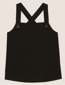 ARMANI EXCHANGE PYRAMID STUD PINAFORE TOP Solid Top Woman r