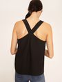 ARMANI EXCHANGE PYRAMID STUD PINAFORE TOP Solid Top Woman e