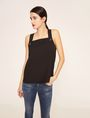 ARMANI EXCHANGE PYRAMID STUD PINAFORE TOP Solid Top Woman f