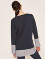 ARMANI EXCHANGE BELL-SLEEVE LAYER EFFECT SWEATER Crew Neck [*** pickupInStoreShipping_info ***] e