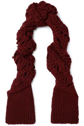 ACNE STUDIOS Crocheted merino wool scarf