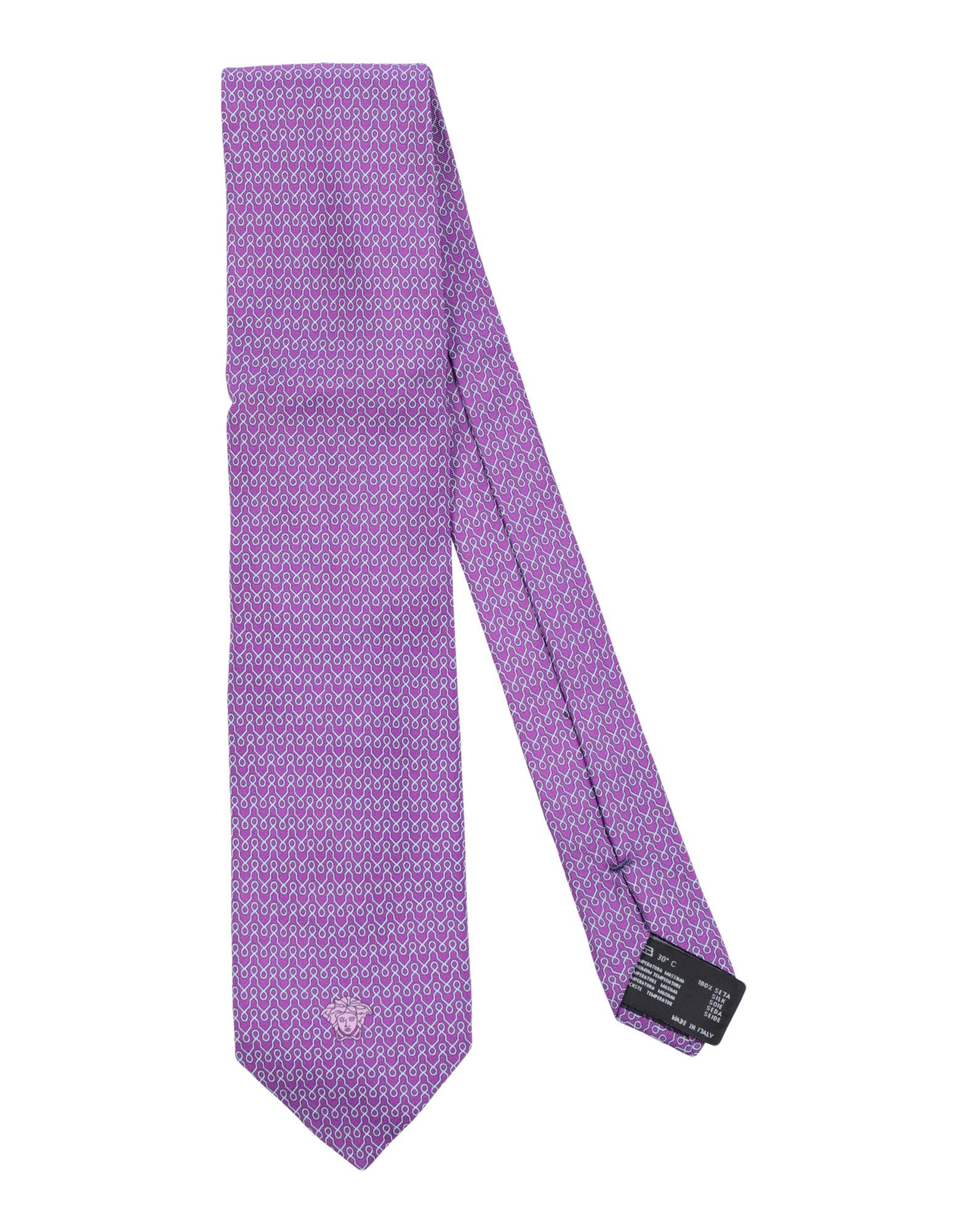 VERSACE Галстук versace бордовый галстук в клетку внизу с логотипом versace 821752 page 5 page 1