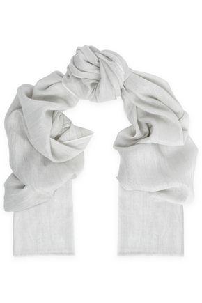 BRUNELLO CUCINELLI Metallic cashmere-blend scarf