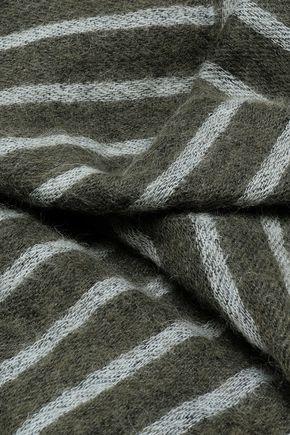 BRUNELLO CUCINELLI Striped intarsia-knit scarf
