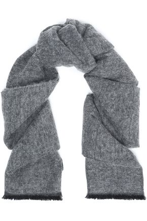 BRUNELLO CUCINELLI Frayed knitted scarf