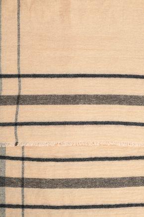 BRUNELLO CUCINELLI Metallic checked intarsia-knit scarf