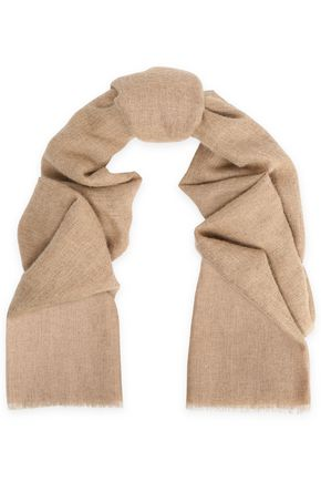 BRUNELLO CUCINELLI Frayed brushed-gauze scarf