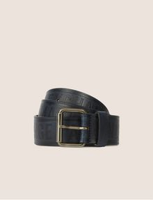 ARMANI EXCHANGE EMBOSSED BICOLOR LOGO BELT Belt [*** pickupInStoreShippingNotGuaranteed_info ***] f