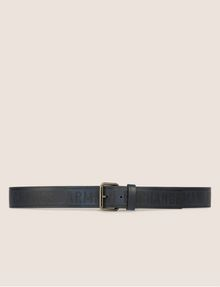 ARMANI EXCHANGE EMBOSSED BICOLOR LOGO BELT Belt [*** pickupInStoreShippingNotGuaranteed_info ***] r