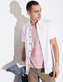 ARMANI EXCHANGE SLIM-FIT SHORT-SLEEVE CLASSIC STRETCH SHIRT Short sleeve shirt Man a