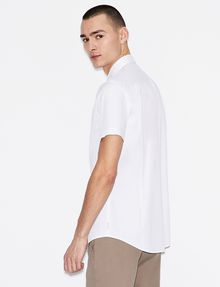 ARMANI EXCHANGE SLIM-FIT SHORT-SLEEVE CLASSIC STRETCH SHIRT Short sleeve shirt Man e