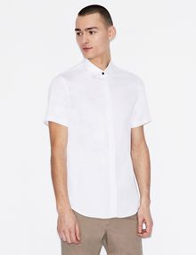 ARMANI EXCHANGE SLIM-FIT SHORT-SLEEVE CLASSIC STRETCH SHIRT Short sleeve shirt Man f