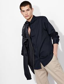 ARMANI EXCHANGE SLIM-FIT CLASSIC STRETCH SHIRT Plain Shirt Man a