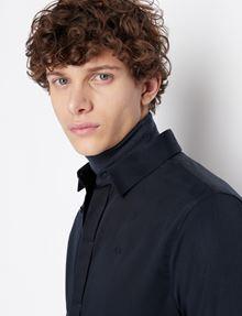 ARMANI EXCHANGE SLIM-FIT CLASSIC STRETCH SHIRT Plain Shirt Man b