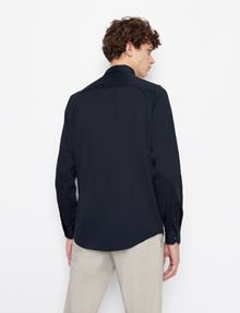 ARMANI EXCHANGE SLIM-FIT CLASSIC STRETCH SHIRT Plain Shirt Man e