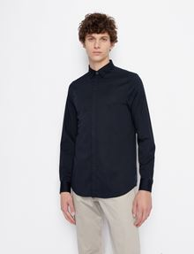 ARMANI EXCHANGE SLIM-FIT CLASSIC STRETCH SHIRT Plain Shirt Man f