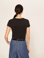 ARMANI EXCHANGE STUD TAPE LOGO TEE Logo T-shirt Woman e
