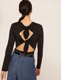 ARMANI EXCHANGE LONG-SLEEVE TIE-BACK TEE L/S Knit Top Woman e