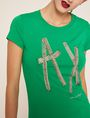 ARMANI EXCHANGE STUD TAPE LOGO TEE Logo T-shirt Woman b