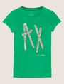 ARMANI EXCHANGE STUD TAPE LOGO TEE Logo T-shirt Woman r