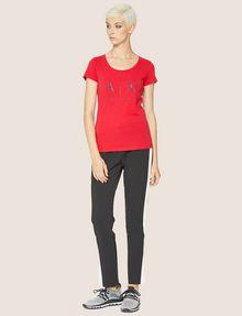 ARMANI EXCHANGE T-SHIRT MIT KLASSISCHEM LOGO UND U-BOOT-AUSSCHNITT Logo-T-Shirt Damen d