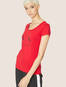 ARMANI EXCHANGE CLASSIC LOGO SCOOPNECK Logo T-shirt Woman f