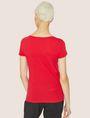 ARMANI EXCHANGE T-SHIRT MIT KLASSISCHEM LOGO UND U-BOOT-AUSSCHNITT Logo-T-Shirt Damen e