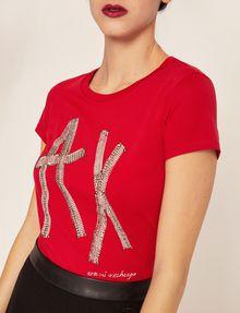 ARMANI EXCHANGE STUD TAPE LOGO TEE Logo T-shirt Woman b