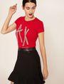 ARMANI EXCHANGE STUD TAPE LOGO TEE Logo T-shirt Woman a